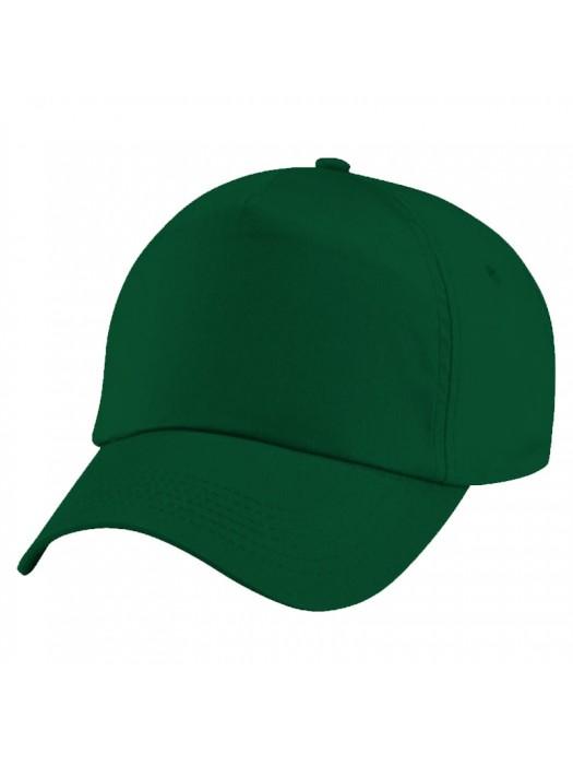 Plain Bottle Green Baseball Cap, Bottle Green Caps