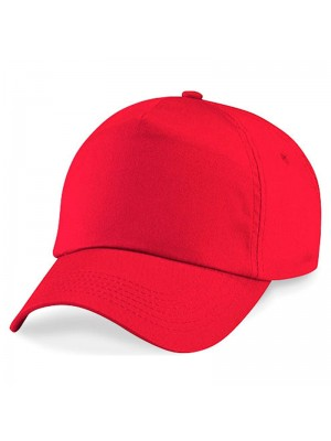 Plain Bright Red Baseball Cap, Bright Red Caps