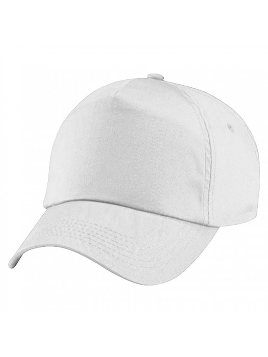 Plain White Baseball Cap, White Caps