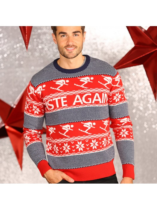 3D Piste Again knitted Christmas jumper