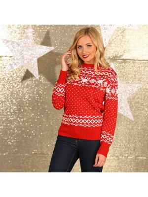 Women's vintage knitted Christmas Jumper