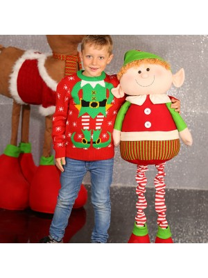 Kids Elf knitted Christmas jumper