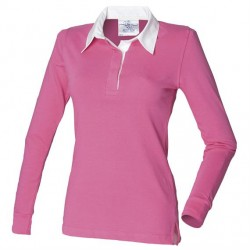 Plain LADIES CLASSIC RUGBY SHIRT FRONT ROW 270 GSM