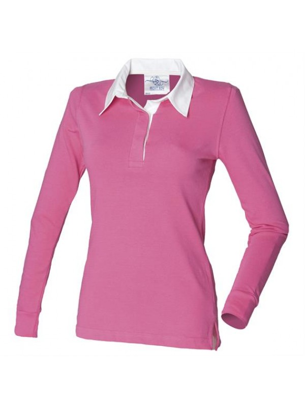 62cb8eedd96 Plain LADIES CLASSIC RUGBY SHIRT FRONT ROW 270 GSM