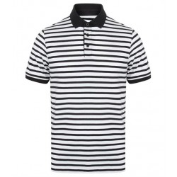 Plain STRIPED JERSEY POLO SHIRT FRONT ROW 180 GSM