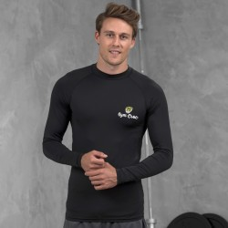 Gym Wear T Shirts Cool long sleeve baselayer Gym Croc Fitness Training, Men's Gym Clothing
