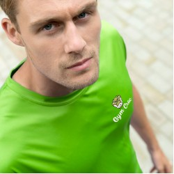 Gym Wear T Shirts Cool smooth T Gym Croc Fitness Training, Men's Gym Clothing