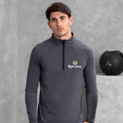 Gym Wear Sweatshirt Cool ½ zip Gym Croc Fitness Training, Men's Gym Clothing
