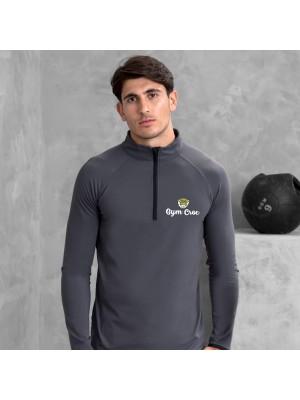 Gym Wear Sweatshirt Cool ½ zip Gym Croc Fitness Training, Men's Gym Clothing