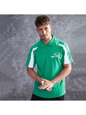 Gym Wear Polo Shirt Contrast cool Gym Croc Fitness Training, Men's Gym Clothing