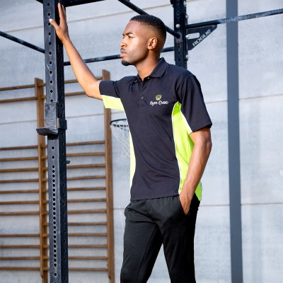 Gym Wear Polo Gamegear® track Gym Croc Fitness Training, Men's Gym Clothing