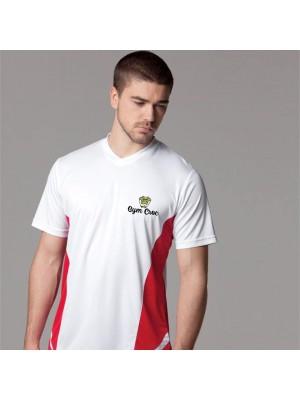 Gym Wear T Shirts Gamegear® Cooltex® team top v-neck short sleeve (regular fit) Gym Croc Fitness Training, Men's Gym Clothing