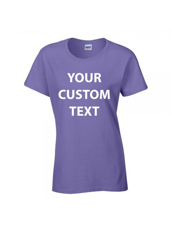 5b07b1d46 Zoom · Personalised T Shirt Ladies Heavy Cotton Gildan White 175gsm, ...