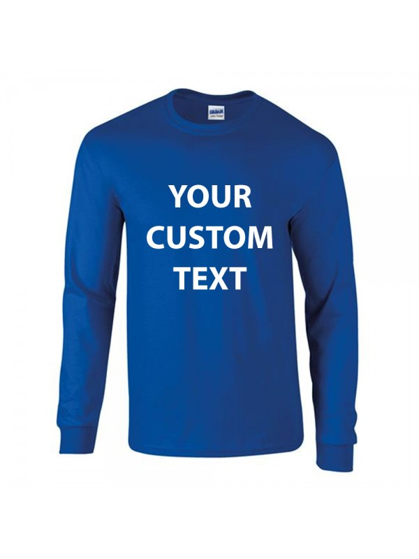 9e52ea956 Personalised T Shirt Ultra Cotton Long Sleeve Gildan White 190gsm, Colours  200gsm with custom design · Zoom