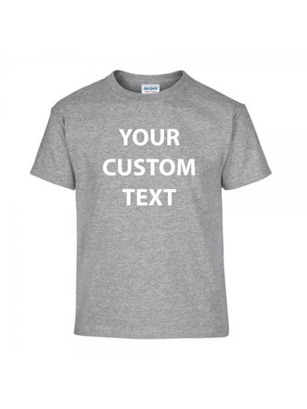 Personalised t shirt kids performance gildan white 145gsm for Plain t shirts to print on