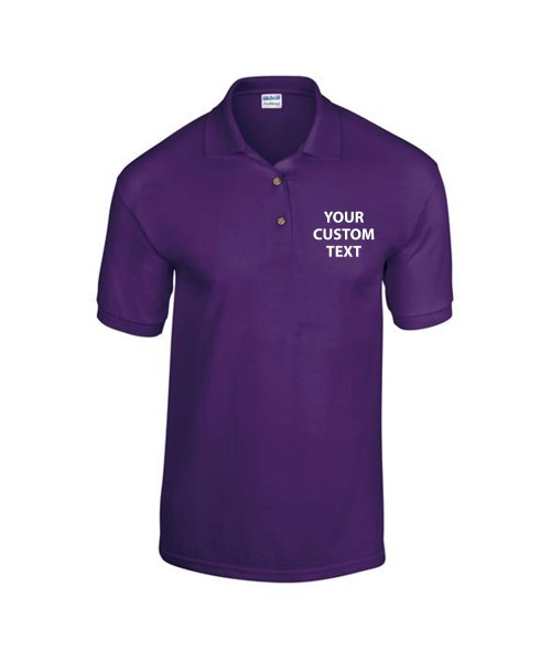 Personalised Polo Shirts Kids DryBlend Jersey Gildan White 185gsm, Colours 190gsm with custom text Embroidery or logo