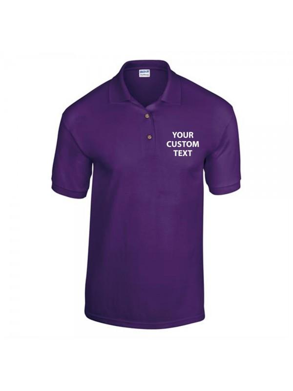 Personalised polo shirts kids dryblend jersey gildan white for Personalized polo shirts for toddlers