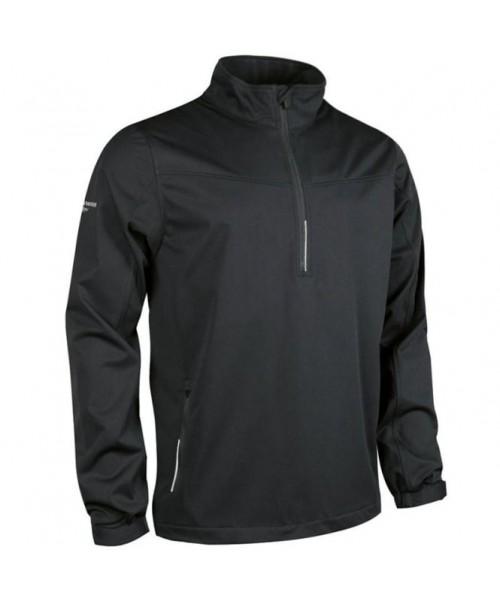 Plain Aragon zip neck long sleeve wind shirt Glenmuir 180 GSM