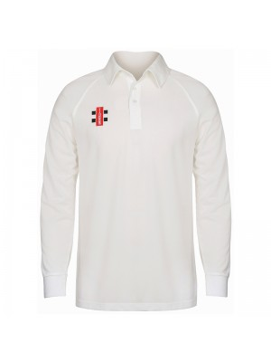 Plain Matrix long sleeve shirt Gray Nicolls 145 GSM