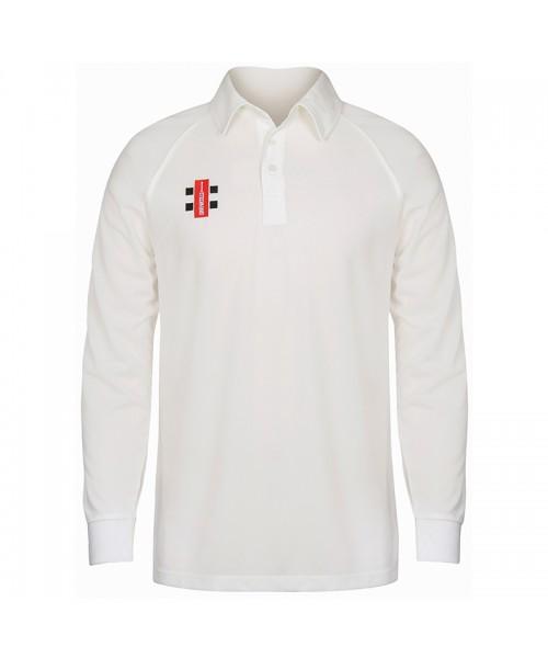Plain Matrix long sleeve shirt Gray Nicolls 145 GSM