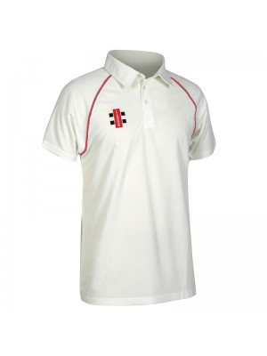 Plain Matrix short sleeve shirt Gray Nicolls 145 GSM