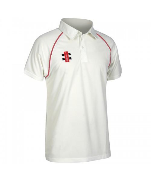 Plain Matrix short sleeve shirt Gray Nicolls 145 GSM
