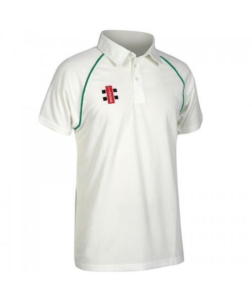 Plain Kids Matrix short sleeve shirt Gray Nicolls 145 GSM