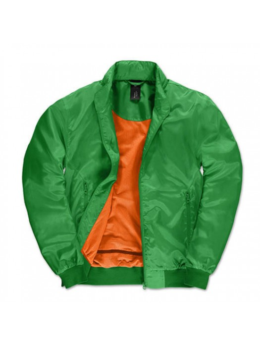 Real Green/ Neon Orange Linning B&C Trooper Bomber Jacket