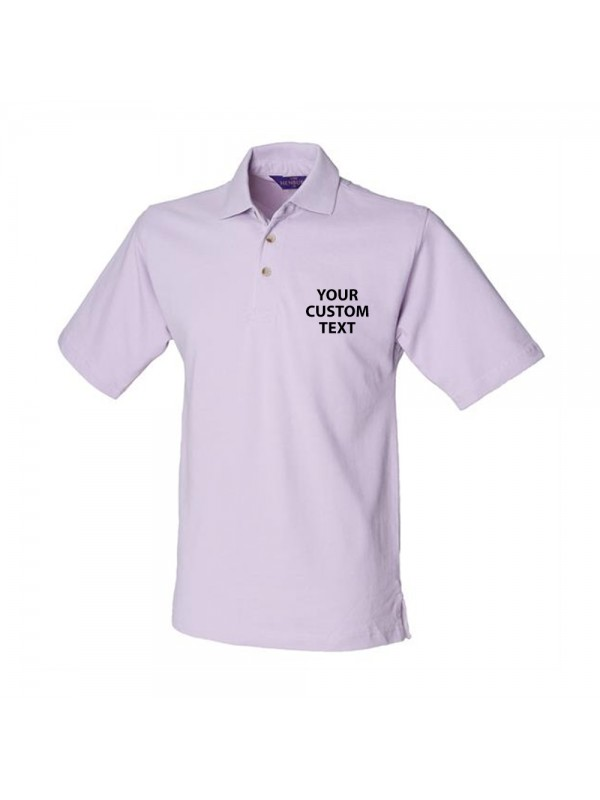 Personalised Polo Shirt Classic Heavy Pique Henbury 225gsm