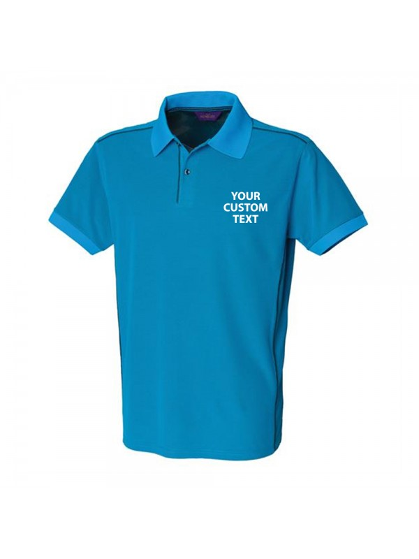 Personalised Polo Shirts Coolplus Piped Henbury 180gsm