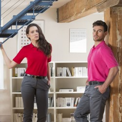 Personalised Polo Shirts Modern Fit Cotton Pique Henbury 180 with custom text Embroidery or logo