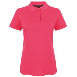 Personalised Polo Shirts Ladies Modern Fit Cotton Pique Henbury 180gsm with custom text Embroidery or logo