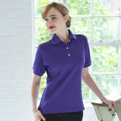 Personalised Polo Shirts Ladies Classic Pique Henbury 225gsm with custom text Embroidery or logo
