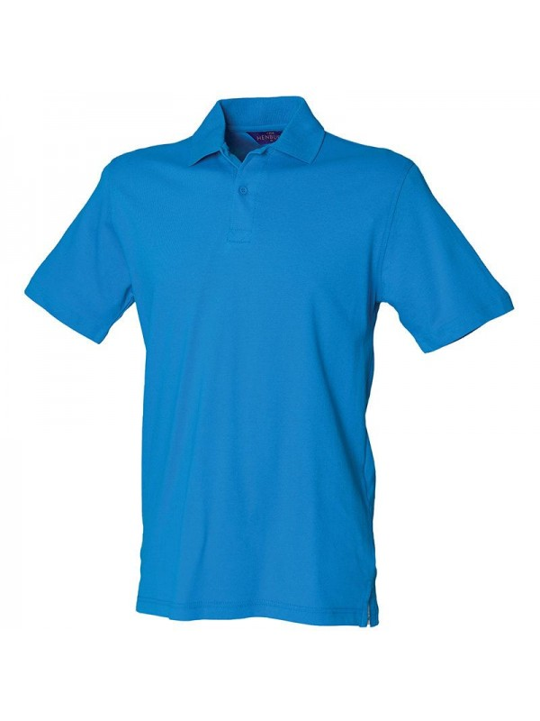 Personalised polo shirt stretch pique henbury 200gsm with for Personalised logo polo shirts