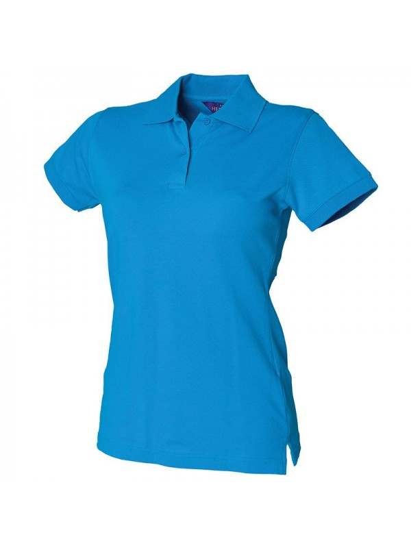 Personalised polo shirt ladies stretch pique henbury for Personalised logo polo shirts