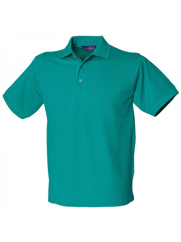 Personalised Polo Shirt Heavy Pique Henbury 200gsm With