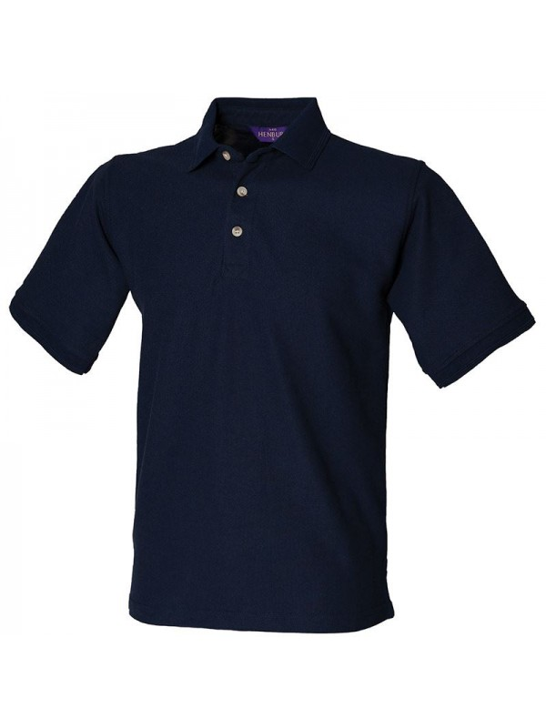 Personalised polo shirt ultimate heavy pique henbury for Personalised logo polo shirts