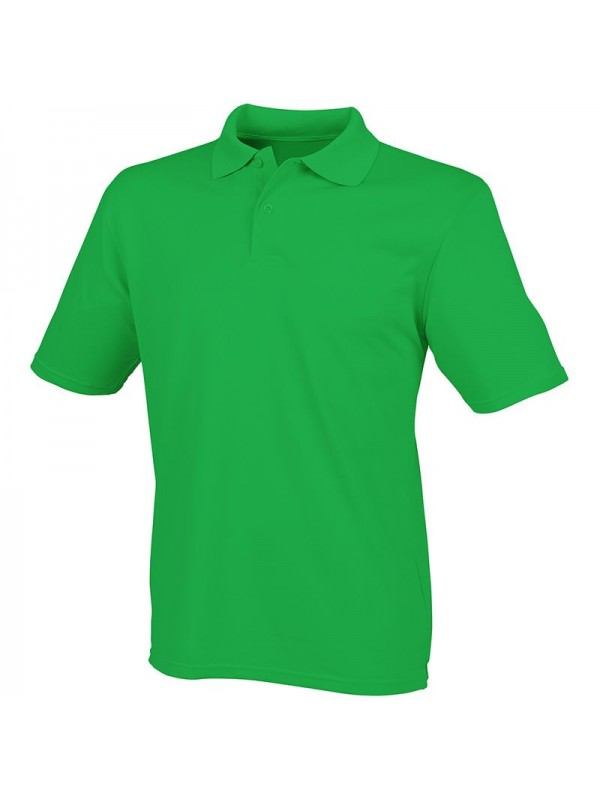 Personalised polo shirts coolplus henbury 180gsm with for Personalised logo polo shirts