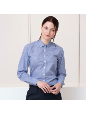 Plain Women's gingham Pufy wicking long sleeve SHIRT HENBURY 115 GSM
