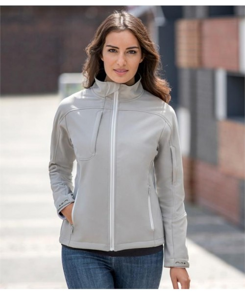 Plain LADIES BIONIC SOFT SHEL JACKET RUSSELL 320 GSM