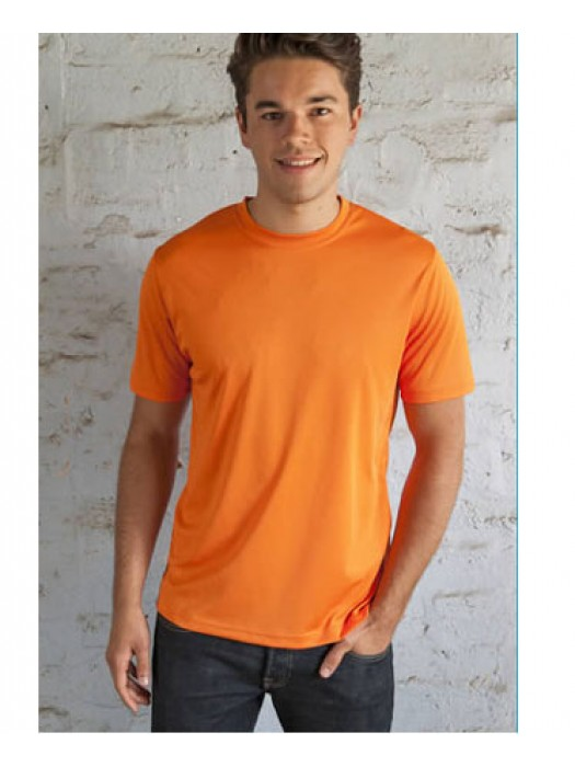 Electric Orange Neon Polyester Tshirt