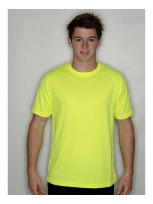 Electric Yellow Neon Polyester Tshirt