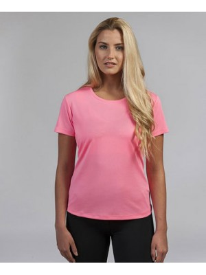Womens Cool Electric Pink Neon Tshirt