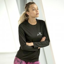 Gym Wear T Shirts Girlie long sleeve cool T Gym Kitty Fitness Training, Yoga