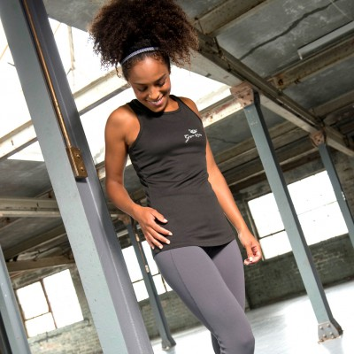Gym Wear Vest Girlie cool Gym Kitty Fitness Training, Yoga