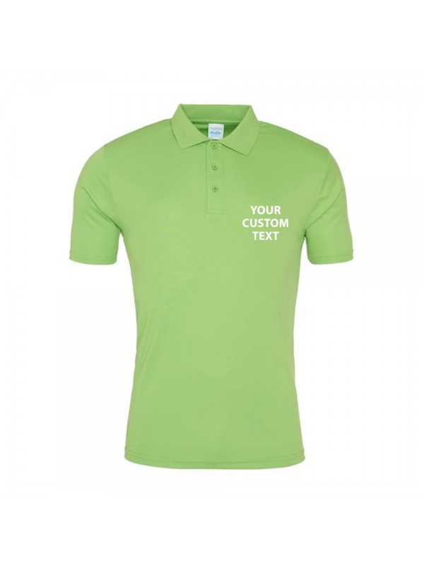 89385283e Zoom · Personalised Polo Shirts Smooth AWDis Just Cool 145gsm with custom  text ...