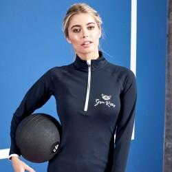 Gym Wear Zip Girlie cool ½ zip sweatshirt Gym Kitty Fitness Training, Yoga
