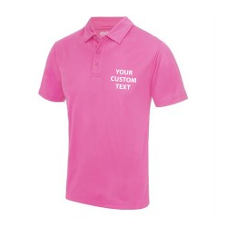 Personalised Polo Shirts AWDis Just Cool 140gsm with custom text Embroidery or logo