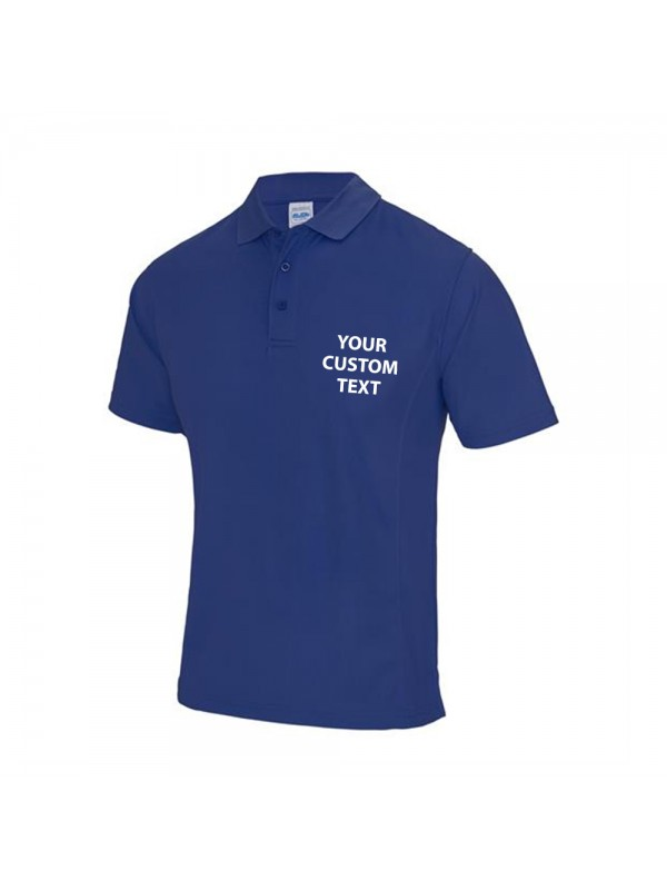 Personalised polo shirts supercool performance awdis just for Personalised logo polo shirts