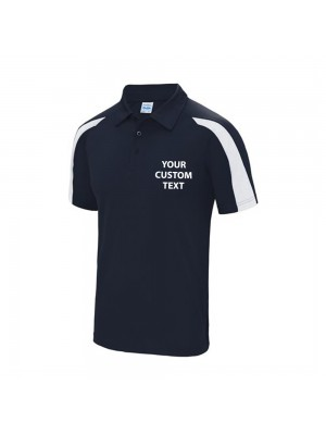 Personalised Polo Contrast Just Cool AWDis Just Cool 140gsm with custom text Embroidery or logo